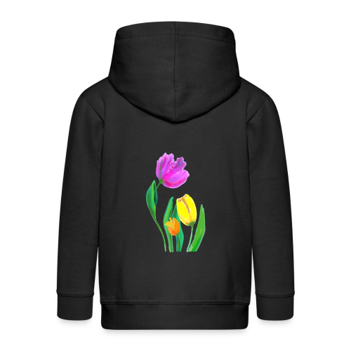 FrauenT-Shirt Tulpen - Kinder Premium Kapuzenjacke