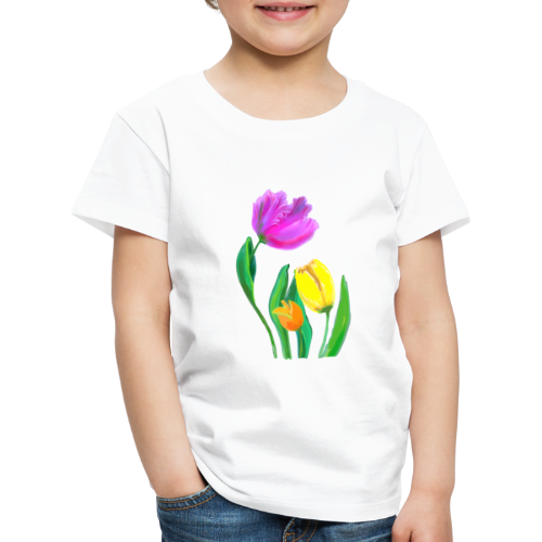 FrauenT-Shirt Tulpen - Kinder Premium T-Shirt