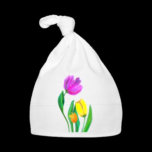 FrauenT-Shirt Tulpen - Baby Mütze