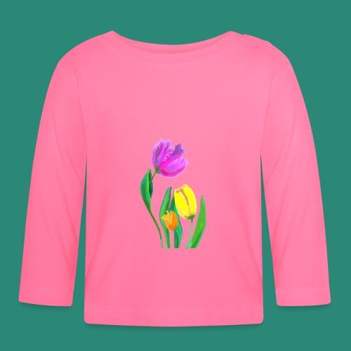FrauenT-Shirt Tulpen - Baby Langarmshirt