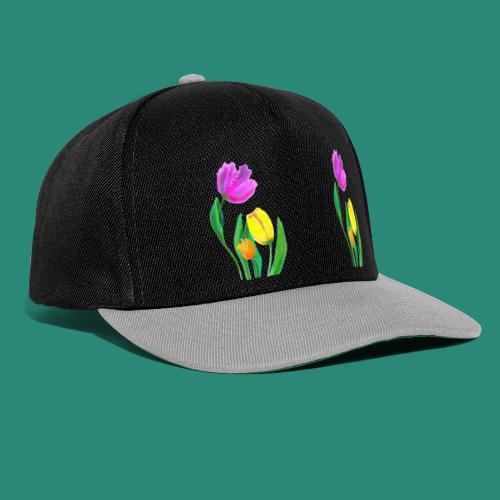 Mode mit Tulpen,Shirts und Tops und  Geschenke - Snapback Cap