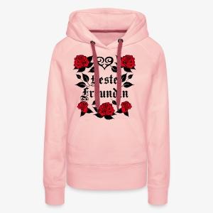 Beste Freundin Tattoo Herz rote Rosen Liebe T-Shirt 40 - Frauen Premium Hoodie