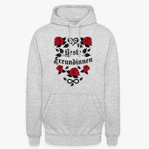 Beste Freundinnen Tattoo Herz rote Rosen T-Shirt 41 - Unisex Hoodie