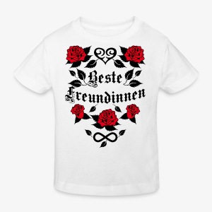 Beste Freundinnen Tattoo Herz rote Rosen T-Shirt 41 - Kinder Bio-T-Shirt