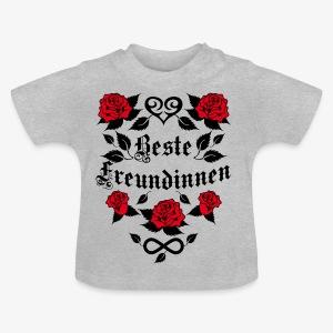 Beste Freundinnen Tattoo Herz rote Rosen T-Shirt 41 - Baby T-Shirt