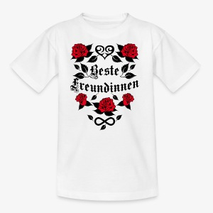 Beste Freundinnen Tattoo Herz rote Rosen T-Shirt 41 - Kinder T-Shirt