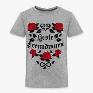 Beste Freundinnen Tattoo Herz rote Rosen T-Shirt 41 - Kinder Premium T-Shirt