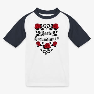 Beste Freundinnen Tattoo Herz rote Rosen T-Shirt 41 - Kinder Baseball T-Shirt