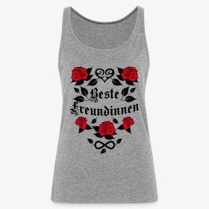 Beste Freundinnen Tattoo Herz rote Rosen T-Shirt 41 - Frauen Premium Tank Top
