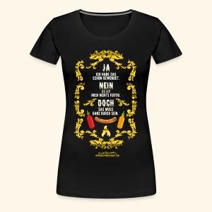Lustiges Grillsprüche-Shirt Ja Nein Doch - Gesch