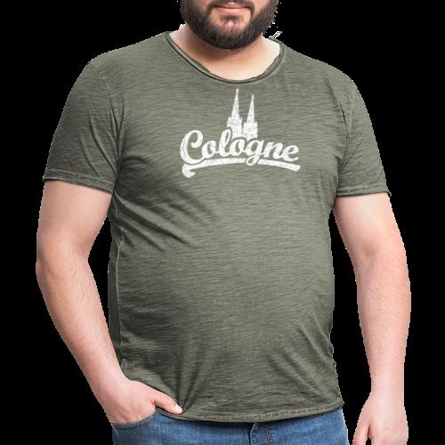 Cologne Dom Classic (Vintage Weiß) Köln Design mit Kölner Dom - Männer Vintage T-Shirt