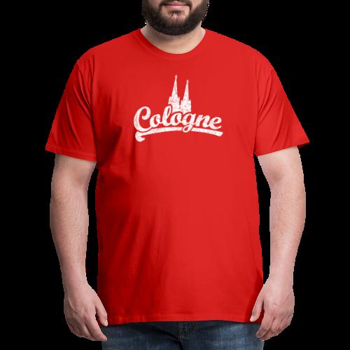 Cologne Dom Classic (Vintage Weiß) Köln Design mit Kölner Dom - Männer Premium T-Shirt