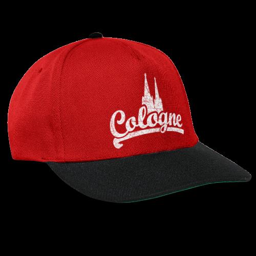 Cologne Dom Classic (Vintage Weiß) Köln Design mit Kölner Dom - Snapback Cap
