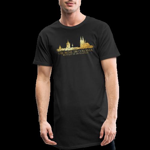 Kölner Skyline (Vintage) mit römischem Köln Spruch - Männer Urban Longshirt