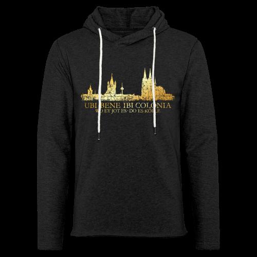 Kölner Skyline (Vintage) mit römischem Köln Spruch - Leichtes Kapuzensweatshirt Unisex