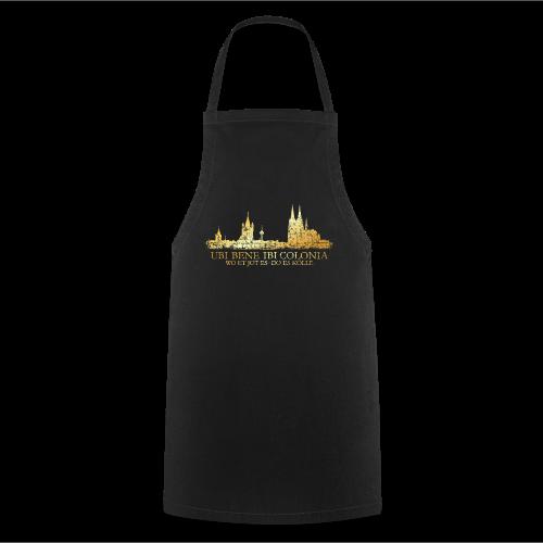 Kölner Skyline (Vintage) mit römischem Köln Spruch - Kochschürze