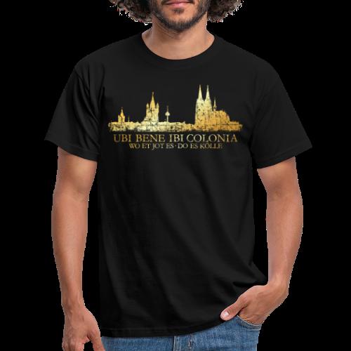 Kölner Skyline (Vintage) mit römischem Köln Spruch - Männer T-Shirt