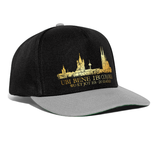 Kölner Skyline (Vintage) mit römischem Köln Spruch - Snapback Cap
