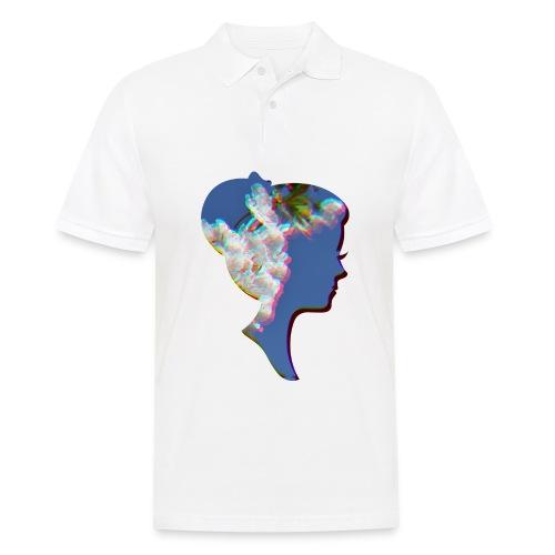 Dame mit Kirschblüten - Männer Poloshirt