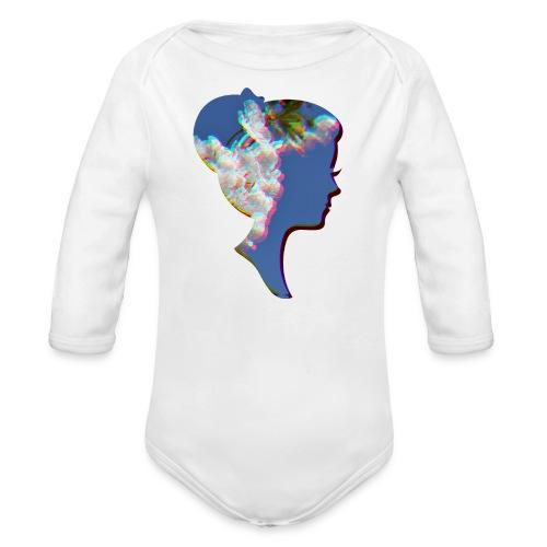 Dame mit Kirschblüten - Baby Bio-Langarm-Body