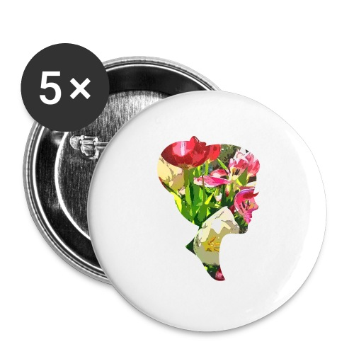 Tulpenpastrell- Dame - Buttons groß 56 mm