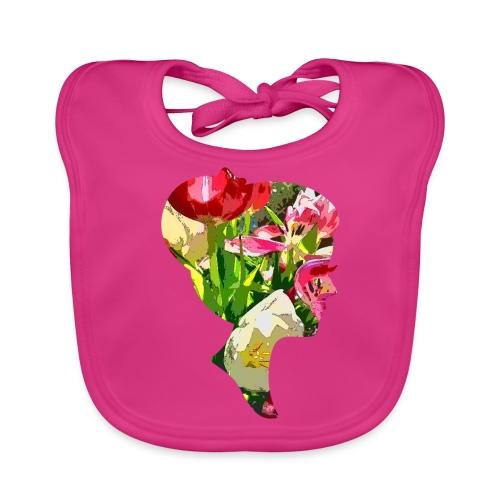 Tulpenpastrell- Dame - Baby Bio-Lätzchen