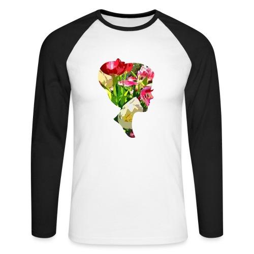 Tulpenpastrell- Dame - Männer Baseballshirt langarm