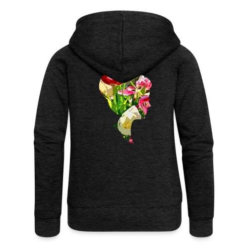 Tulpenpastrell- Dame - Frauen Premium Kapuzenjacke
