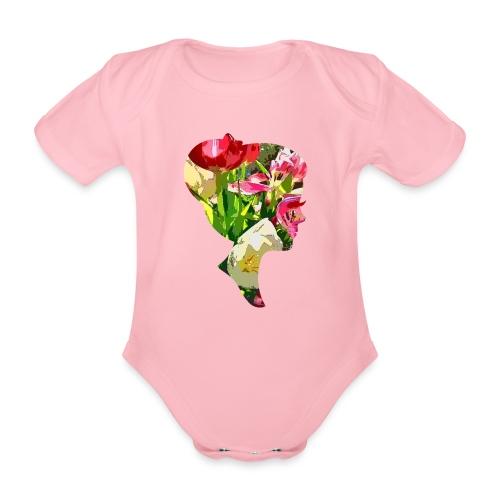 Tulpenpastrell- Dame - Baby Bio-Kurzarm-Body