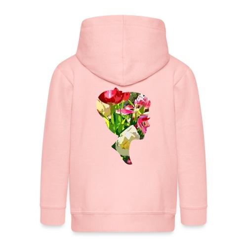Tulpenpastrell- Dame - Kinder Premium Kapuzenjacke