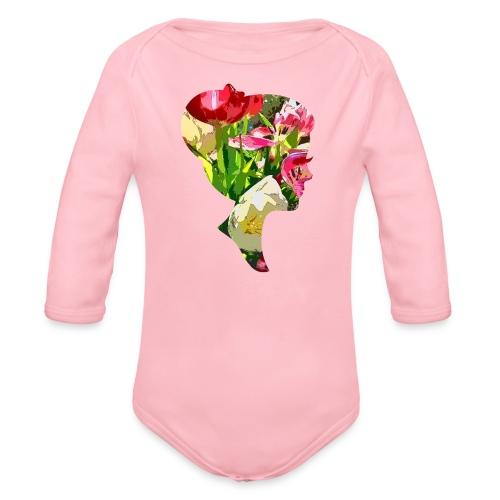 Tulpenpastrell- Dame - Baby Bio-Langarm-Body