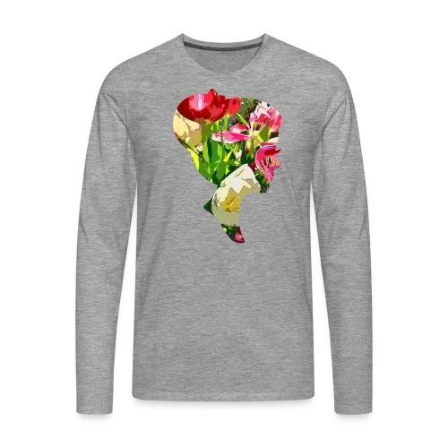 Tulpenpastrell- Dame - Männer Premium Langarmshirt