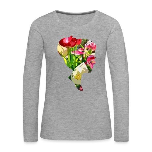 Tulpenpastrell- Dame - Frauen Premium Langarmshirt
