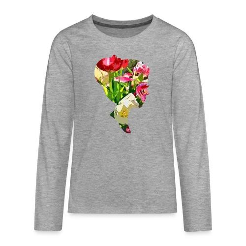 Tulpenpastrell- Dame - Teenager Premium Langarmshirt