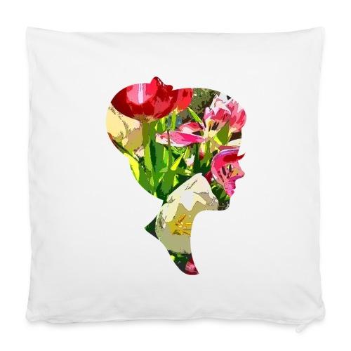 Tulpenpastrell- Dame - Kissenbezug 40 x 40 cm