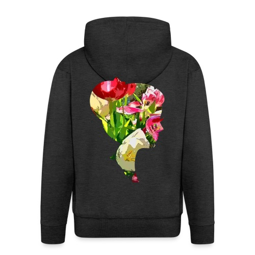 Tulpenpastrell- Dame - Männer Premium Kapuzenjacke