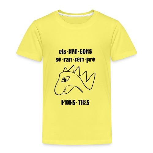 dragons monstres punts - Camiseta premium niño