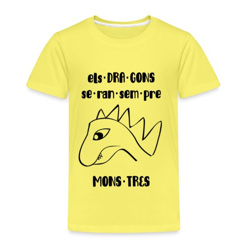 dragons monstres (punts) - Camiseta premium niño