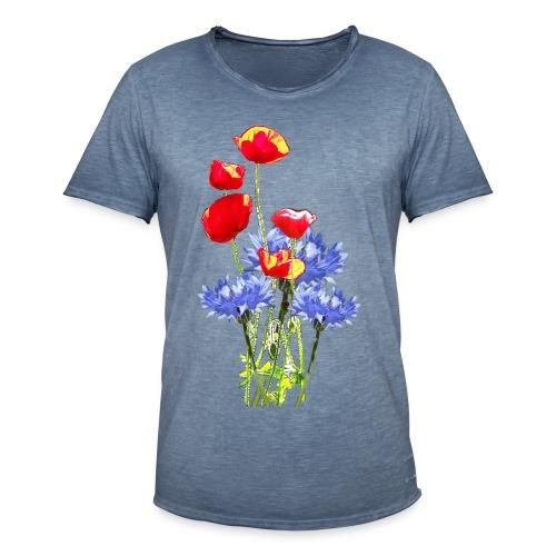 Mohn-Kornblume-Collage - Männer Vintage T-Shirt