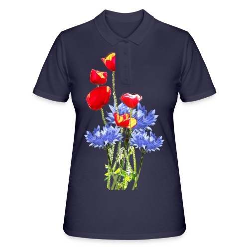 Mohn-Kornblume-Collage - Frauen Polo Shirt