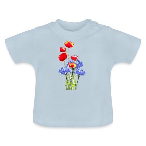 Mohn-Kornblume-Collage - Baby T-Shirt