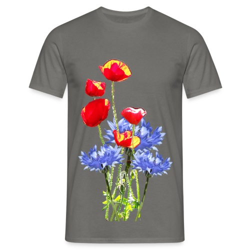 Mohn-Kornblume-Collage - Männer T-Shirt