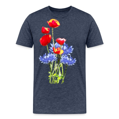 Mohn-Kornblume-Collage - Männer Premium T-Shirt