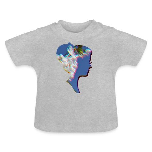 Dame mit Kirschblüten - Baby T-Shirt
