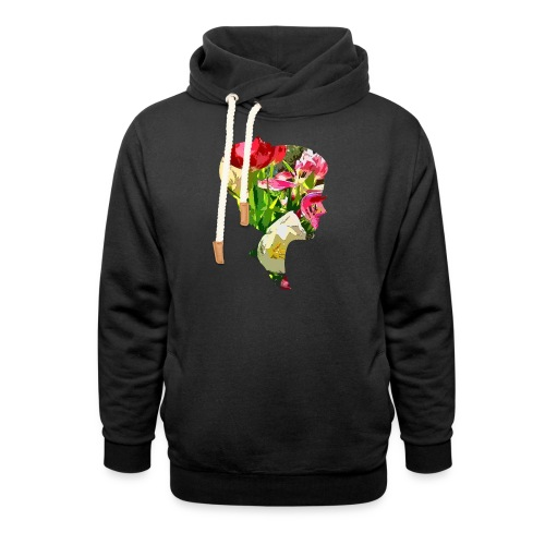 Tulpenpastell-Dame - Schalkragen Hoodie