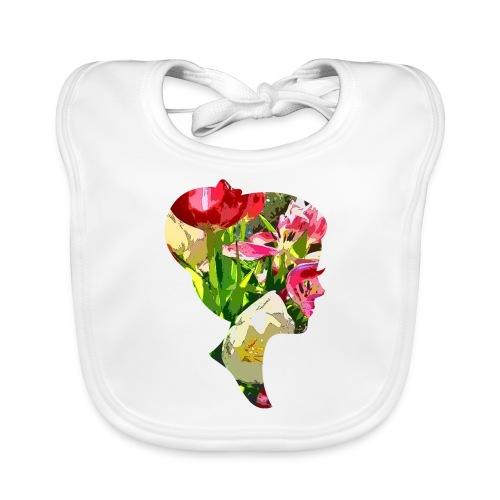 Tulpenpastell-Dame - Baby Bio-Lätzchen