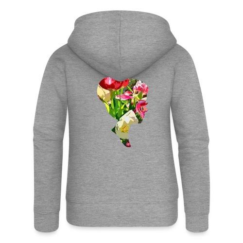 Tulpenpastell-Dame - Frauen Premium Kapuzenjacke