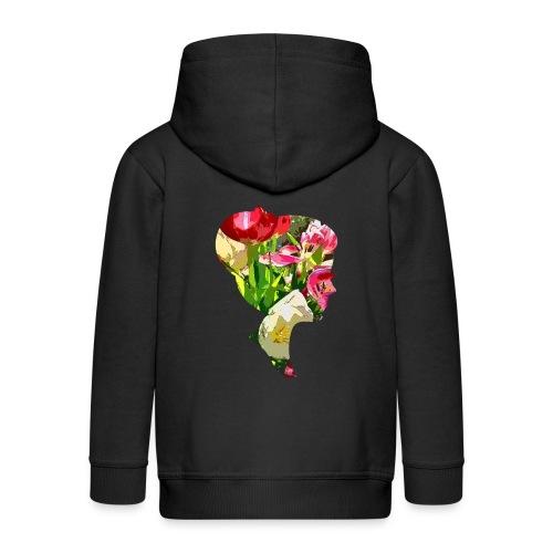 Tulpenpastell-Dame - Kinder Premium Kapuzenjacke