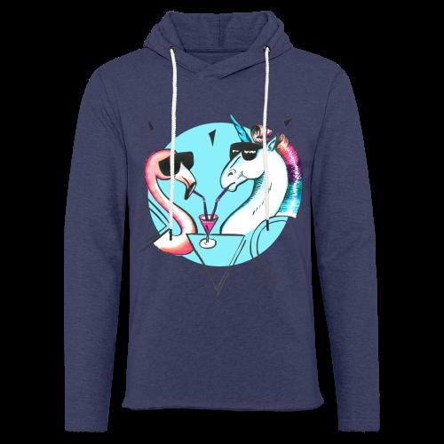 Flamingo & Einhorn - Leichtes Kapuzensweatshirt Unisex