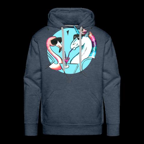 Flamingo & Einhorn - Männer Premium Hoodie